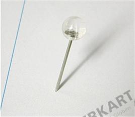 100 Pinn Nadeln 5mm transparent
