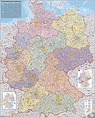 PLZ Karte Deutschland - Magnetwand
