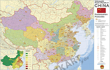 China Postleitzahlenkarte