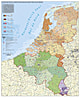 Benelux PLZ Karte 97 x 118cm