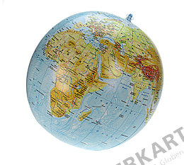 Physical inflatable Globe - 16 inch - german