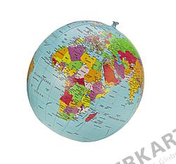 Political Globe, Beachball, german labeled 16 inch