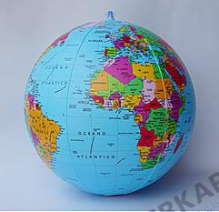 Political Globe Beachball Italian 40cm (16 inch)
