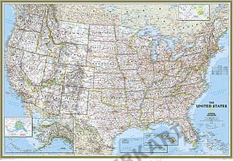 Politisk kort over USA (standardformat) NGS