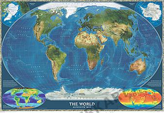 Satelliten Weltkarte