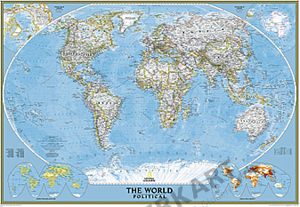 Political World Map - Wall Map Poster from National Geographic