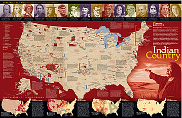 Indian Country map from National Geographic