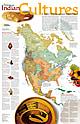 Kultur der Indianer Karte - Poster von National Geographic