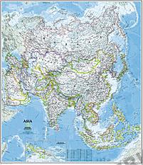 Politische Asien Karte