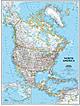 Politische Nord Amerika Karte (Standardformat)