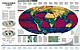 Erde in Gefahr Weltkarte als Poster von National Geographic
