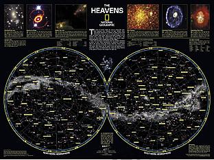 Der Sternenhimmel Karte von National Geographic