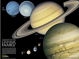 The Solar System Poster 61 x 46cm
