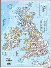 Großbritannien und Irland Karte NGS