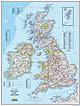 Großbritannien Landkarte, Irland Landkarte von National Geographic