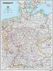 Tyskland landkort National Geographic