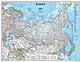 Russland Karte als Poster von National Geographic