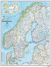 Skandinavien Karte