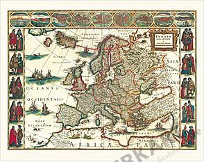 Blaeu's Europakarte (1620) 78 x 61cm