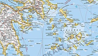 Græske øer kort Kort Grækenland