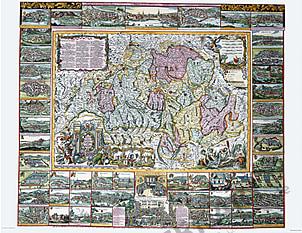 Muoss Schweiz (1710) 71 x 57cm