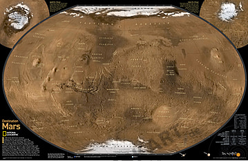 The Mars Map Poster