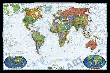 Weltkarte Poster Decorator von National Geographic