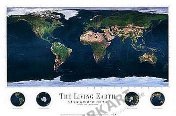 Living Earth (Atlantik) 91 x 61cm