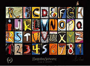 Schmetterlings Alphabet #1 Poster