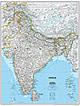 Indien Landkarte Poster von National Geographic