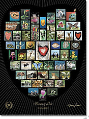 Natur Alphabet Poster #10 - Hearts and Love schwarz 46 x 61cm