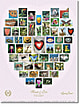 Natur Alphabet Poster #11 - Hearts and Love - weiss
