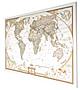Weltkarte executive deutsch auf Canvas 90 x 60cm