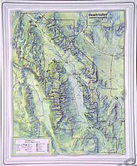 3D Relief Karte Death Valley National Park