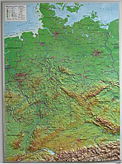 3D Relief Germany Map small