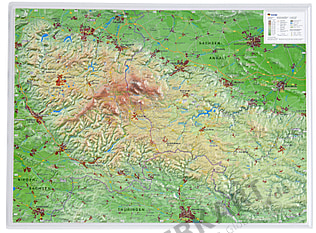 3D Raised Relief Map Harz Mountains