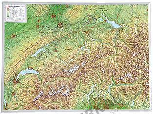 3D Reliefkarte Schweiz