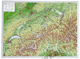 3D Reliefkarte Schweiz klein