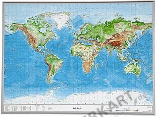 3D Relief Kort Verden