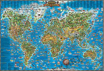 Weltkarte für Kinder 137 x 97cm