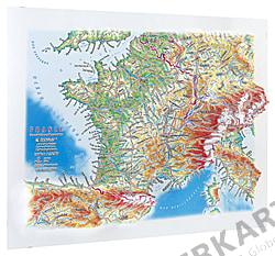 3D Reliefmap Panorama France
