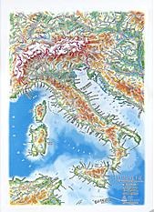 3D Reliefmap Panorama Italy