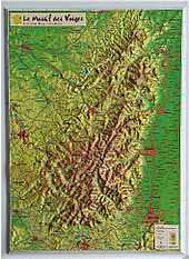 3D Relief Map Vosges small 31 x 42cm