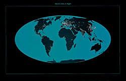 Weltkarte - Städte in der Nacht