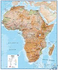 Afrika kort fysisk