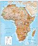 Afrika Landkarte physikalisch