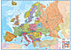 Politische Europa Karte (Standardformat) 136 x 100cm
