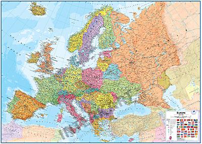 Politische Europa Karte Standardformat 136 X 100cm