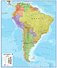 Political South America Wall Map