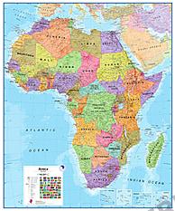 Politisk kort over Afrika